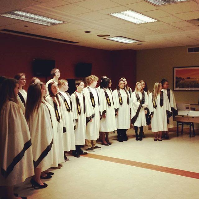 Chamber choir in a cafeteria.  #music #Christmascarols #Christmas #singing