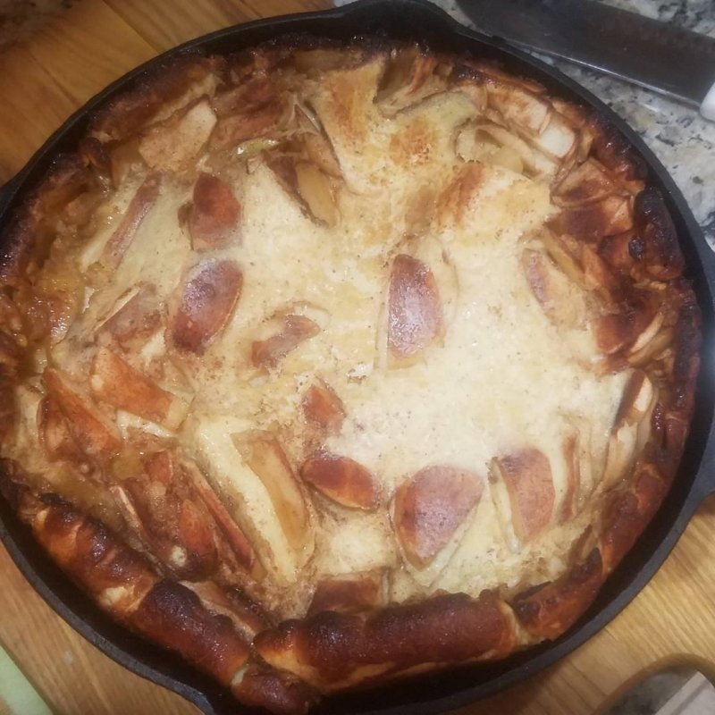 Apple Dutch Baby is finished.woot