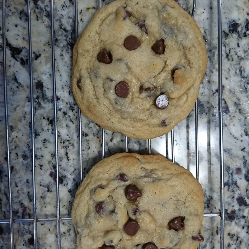 Big soft chewy.. I hope tasty recipe at http://hostthetoast.com/best-chewy-cafe-style-chocolate-chip-cookies/  #hostthetoast