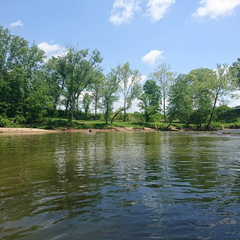 Beautiful day on the river